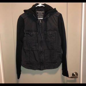 American Eagle Outfitters AEO Black/Gray Jacket